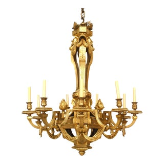 French Louis XVI Style 12-Arm Chandelier For Sale