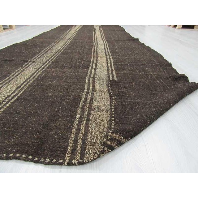 Vintage Striped Grey Turkish Kilim Rug - 5′11″ × 14′3″ For Sale In Los Angeles - Image 6 of 6