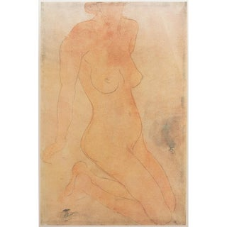 1959 Nude by Auguste Rodin, Large Hungarian Print For Sale