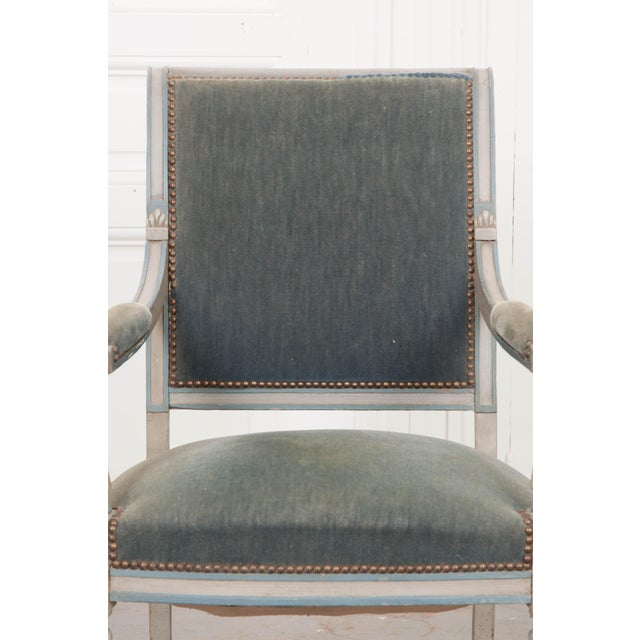 French 19th Century Second Empire Painted Fauteuil For Sale In Baton Rouge - Image 6 of 13