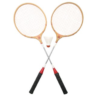 Old School Scorpion Badminton Racquets, A Pair For Sale