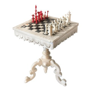 Swiss Miniature Chess Table with Stanhope Lens For Sale