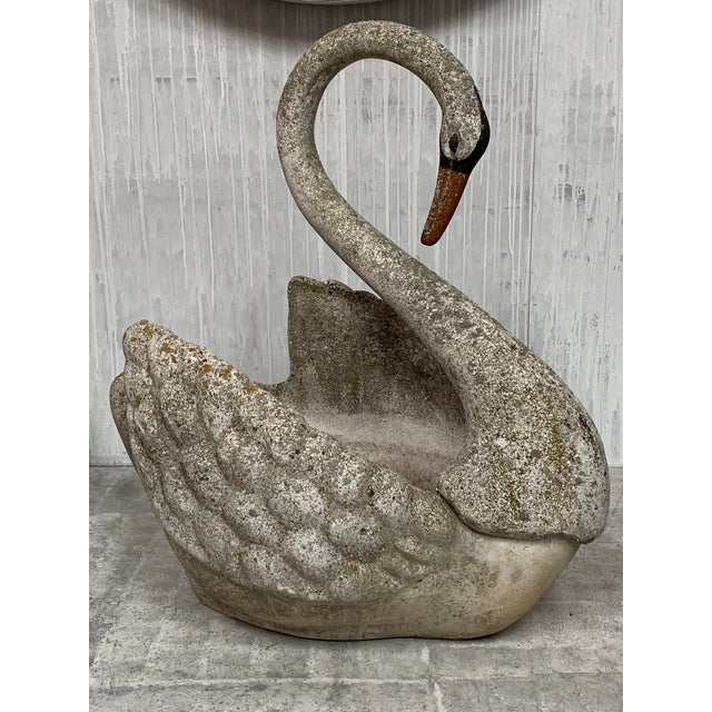 Vintage Stone Swan Planter For Sale - Image 4 of 5