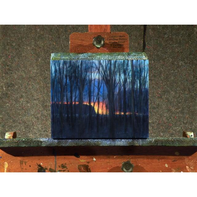 Original Sunset Through Trees Painting - Image 2 of 4