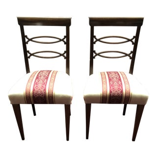 1950s Vintage Dining Room Side Chairs- A Pair For Sale