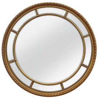 Augusta Gold Round Beveled Mirror For Sale