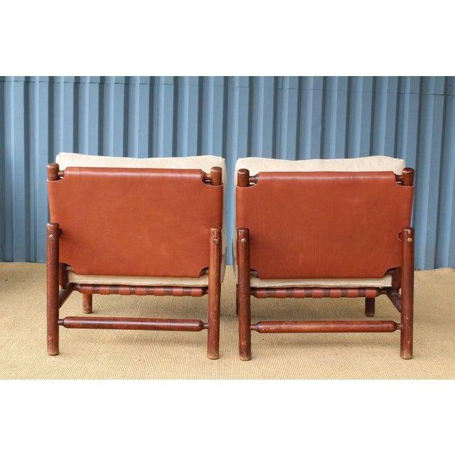 Danish Modern Ilmari Tapiovaara Walnut Lounge Chairs, Italy, 1957 - a Pair For Sale - Image 3 of 11