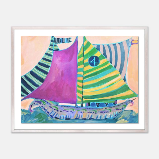Lulu DK SB Staniel Cay by Lulu DK in White Wash Framed Paper - Medium Art Print For Sale - Image 4 of 4