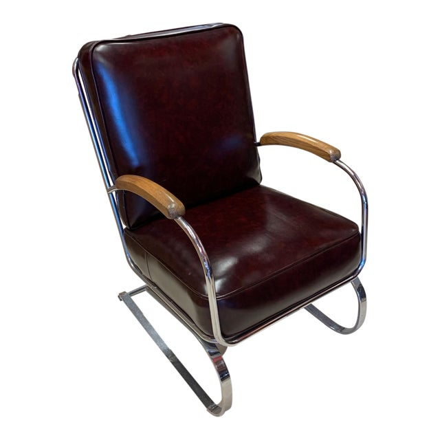 Kem Weber Style Spring Lounge Chair For Sale