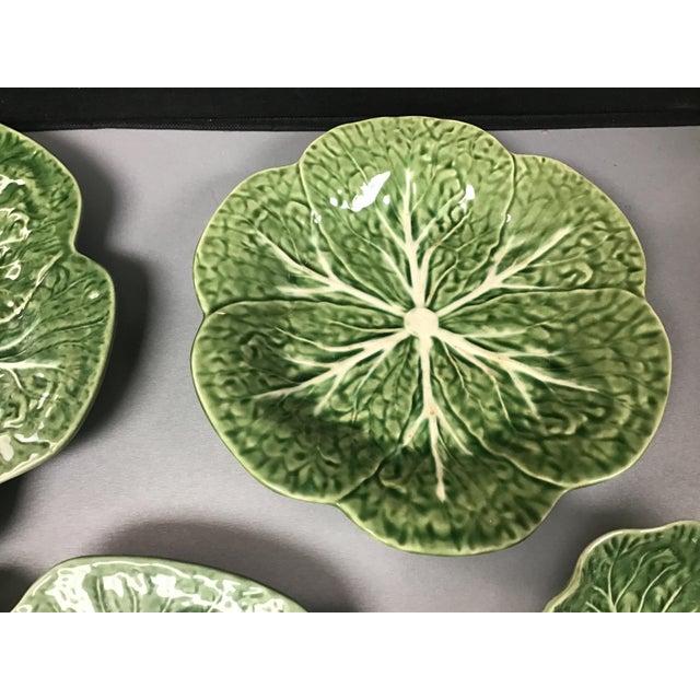 5 Vintage Pieces of Bordallo Pinheiro Cabbage Design For Sale - Image 4 of 9