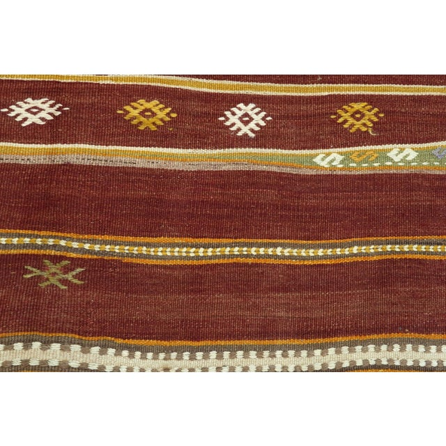 Mid 20th Century Anatolian Kilim Tribal Turkish Kilim Rug-4′8″ × 6′1″ For Sale - Image 5 of 13