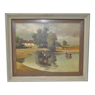 Early 20th Century Arcadian Landscape Oil Painting by Szody C.1930