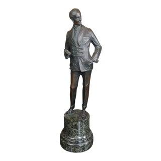 """Bruno Zach - Elegant Gentleman -Beautiful Ar16""""t Deco Bronze Sculpture-C.1930s For Sale"""