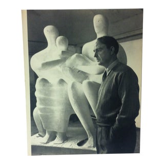 "Black & White Print on Paper, ""Henry Moore"" by Yousuf Karsh, 1967 For Sale"