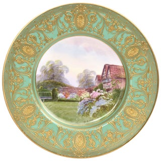 Fantastic Cabinet Plate, Royal Worcester Painted by Raymond Rushton, Circa 1927 For Sale