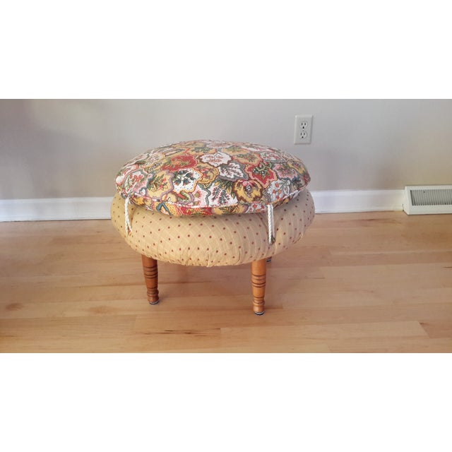 Country French Style Chairs and Ottoman Set - Image 5 of 7