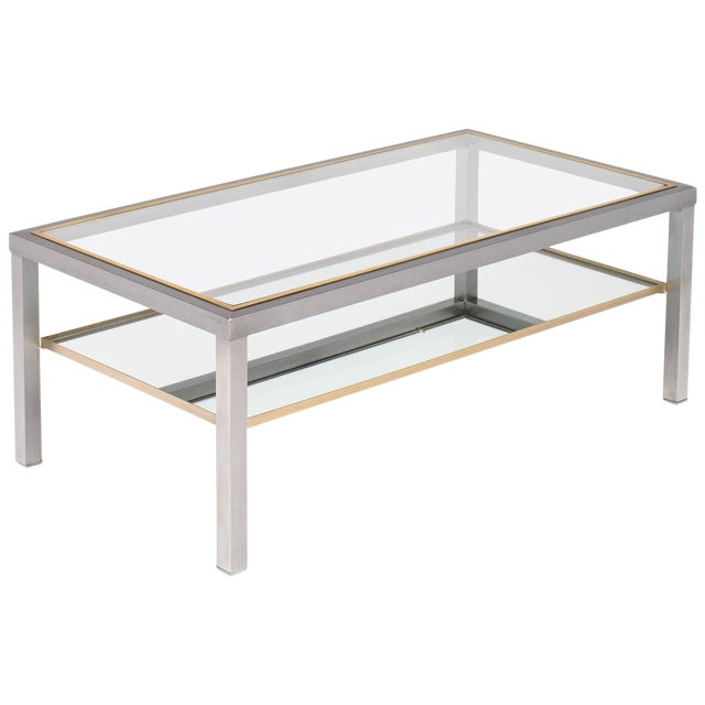 Vintage French Modernist Coffee Table For Sale