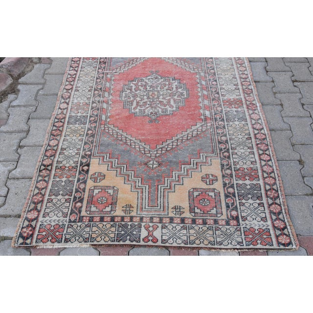 Distressed Turkish Oushak Rug - 3′11″ × 6′1″ - Image 6 of 9