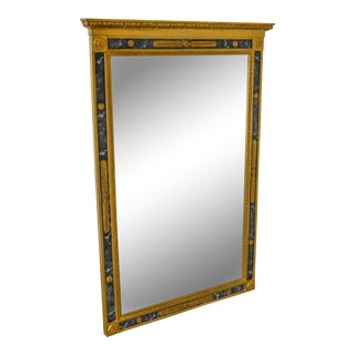 Carvers Guild Regency Style Faux Marble & Gilt Wood Trumeau Mirror For Sale