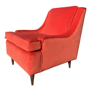Mid Century Modern Upholstered Lounge Chair For Sale