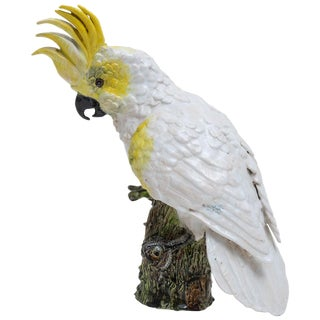 1930s Hand Painted Cockatoo Figure by Silvestrie For Sale