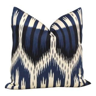 "20"" x 20"" Schumacher Bukhara Ikat Decorative Pillow Cover"