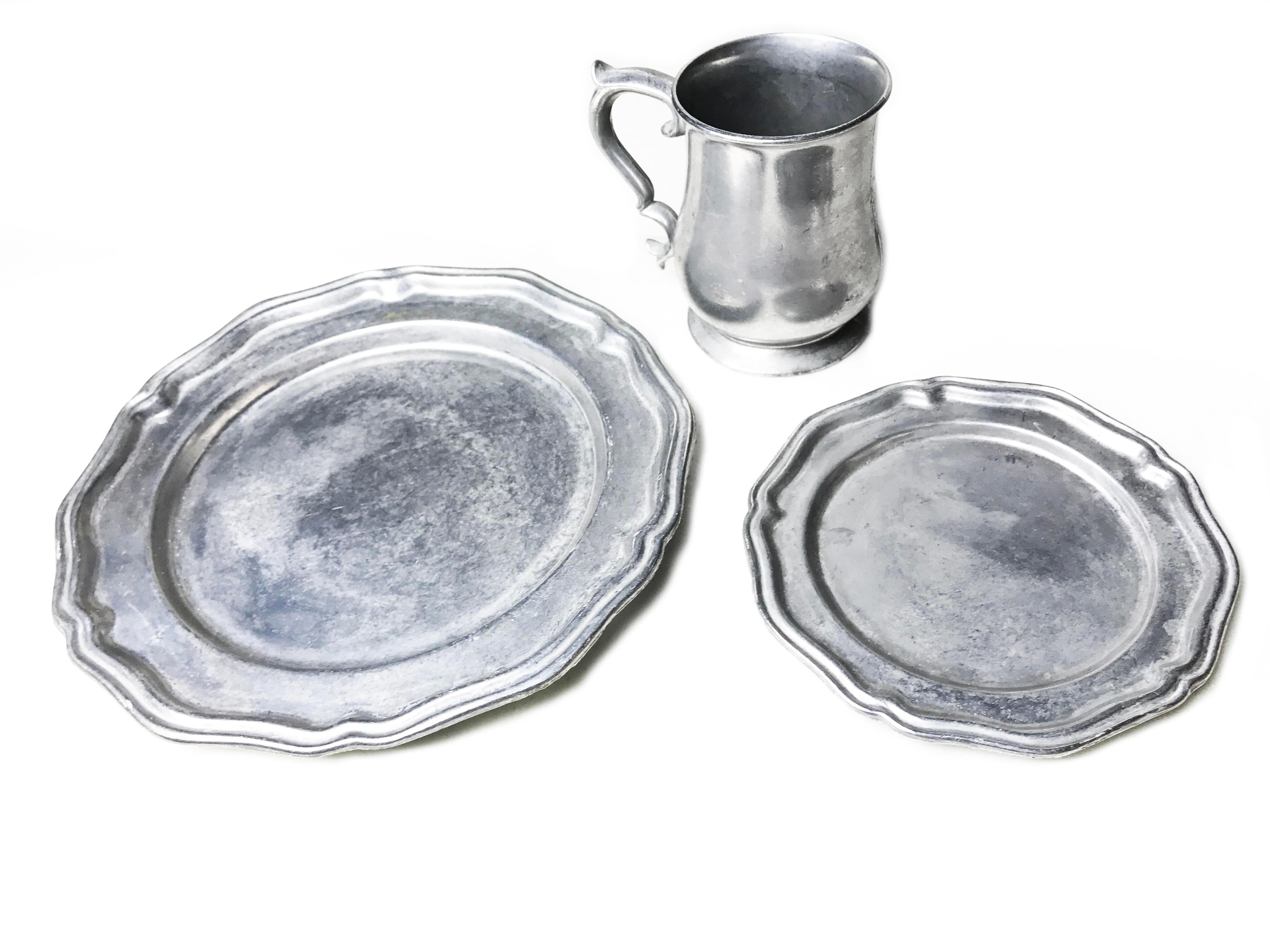 Crown Castle Aluminum Alloy Dinnerware - Image 2 of 3  sc 1 st  Chairish & Crown Castle Aluminum Alloy Dinnerware | Chairish