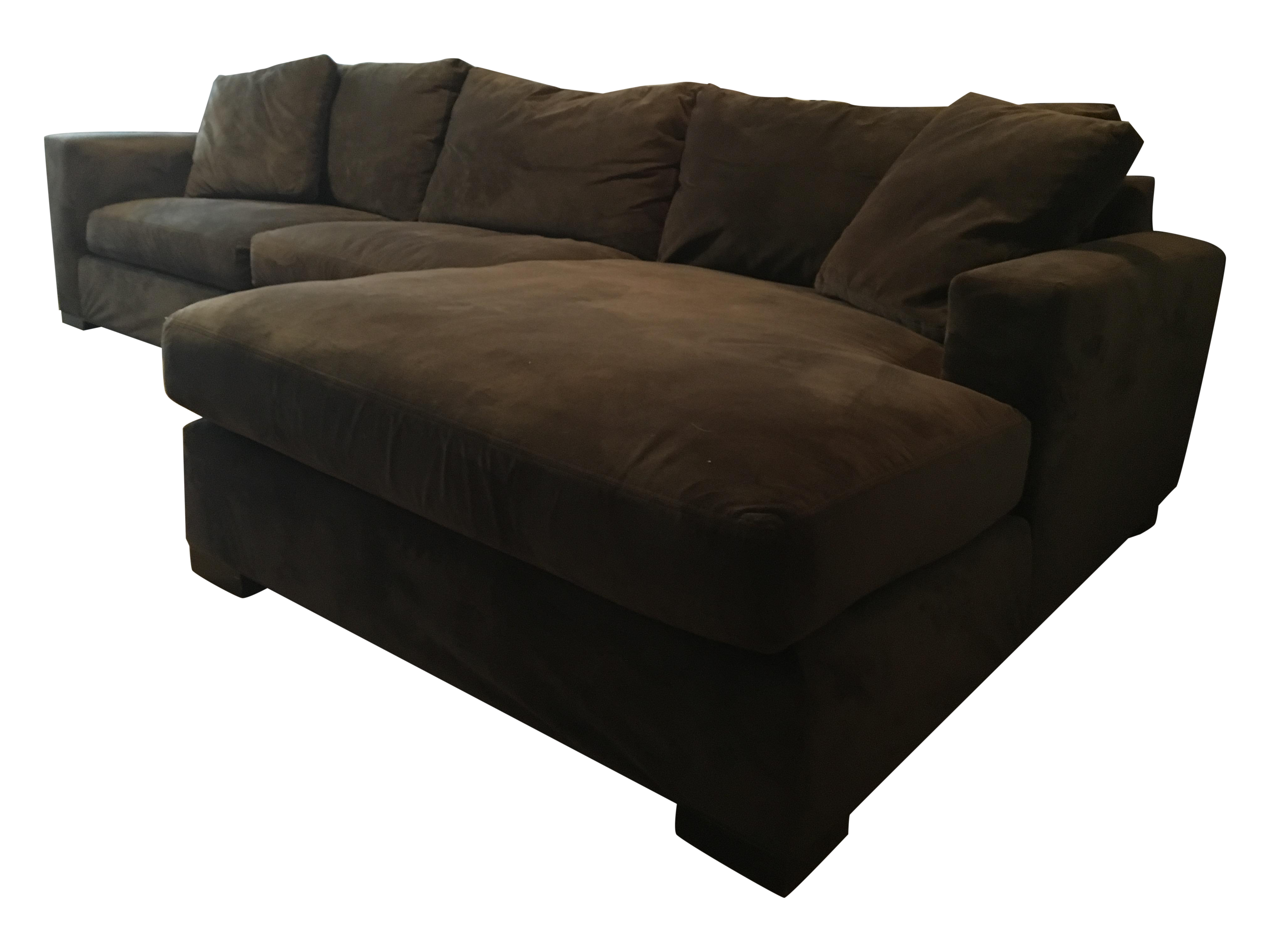 Brown Room U0026 Board Metro Sectional Sofa And Chaise