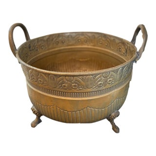 1970s Vintage Moroccan Brass Bucket For Sale