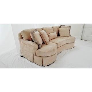 Modern Lexington Furniture Kidney Shaped Micro-Suede Sofa Preview