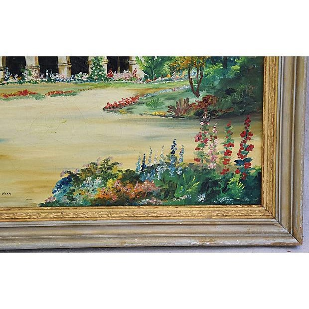 Mid-Century Framed San Juan Capistrano Mission Oil Painting by Georgiana Hehr For Sale - Image 5 of 10