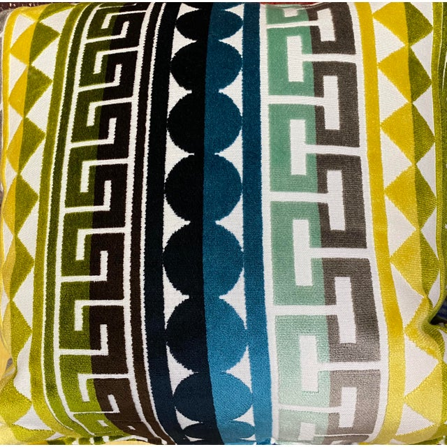 "Kravet ""Seurat in Seaside"" 22"" Pillows-A Pair For Sale In Greensboro - Image 6 of 7"