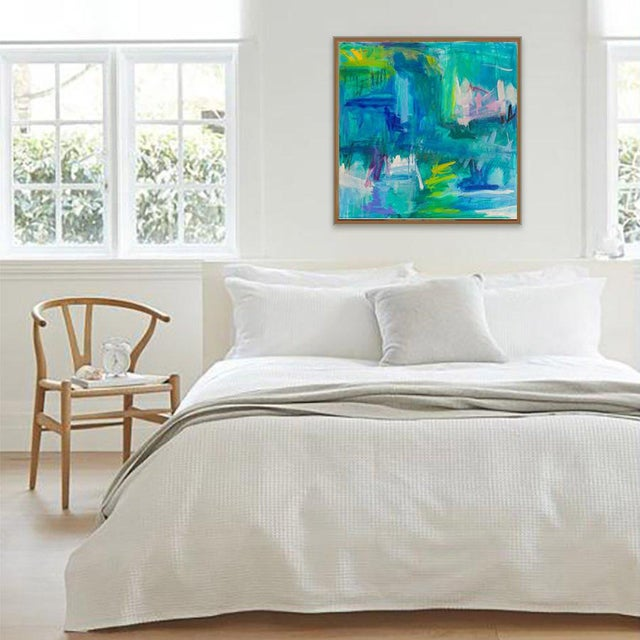 """Trixie Pitts Large Abstract Painting by Trixie Pitts """"Reflections"""" For Sale - Image 4 of 9"""