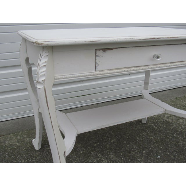 Vintage French Shabby Chic Style Desk - Image 7 of 7