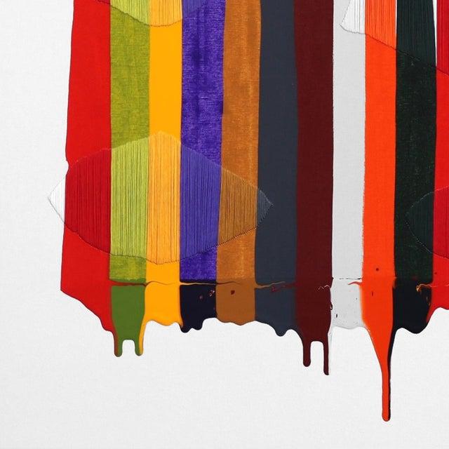 """Fils I Colors Cccxcii"" Original Artwork by Raul De La Torre For Sale - Image 4 of 9"