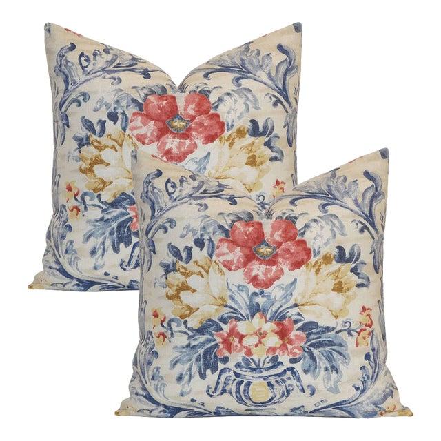 Pierre Deux Floral Pillows - A Pair - Image 1 of 3