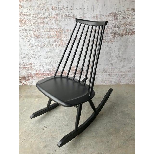 Mid-Century Modern Artek Mademoiselle Rocking Chair by Ilmari Tapiovaara For Sale - Image 3 of 9