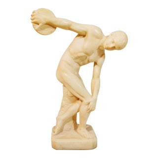 Vintage Mid-Century G. Ruggeri Discobolus Discus Thrower Italian Sculpture For Sale