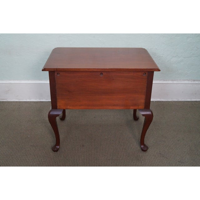 Queen Anne Style Solid Mahogany Low Boy - Image 4 of 10