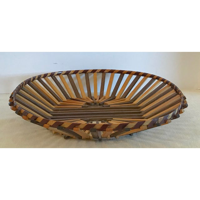 Boho Chic 20th Century Boho Chic Two Color Stick Basket For Sale - Image 3 of 7