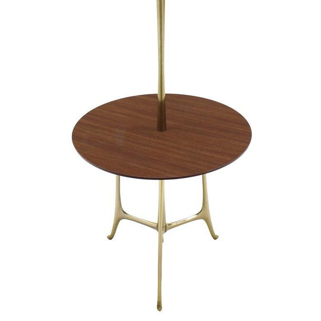 Mid-Century Modern Mid Century Modern Sculptural Tri Leg Base Cast Metal Base Table Floor Lamp For Sale - Image 3 of 7