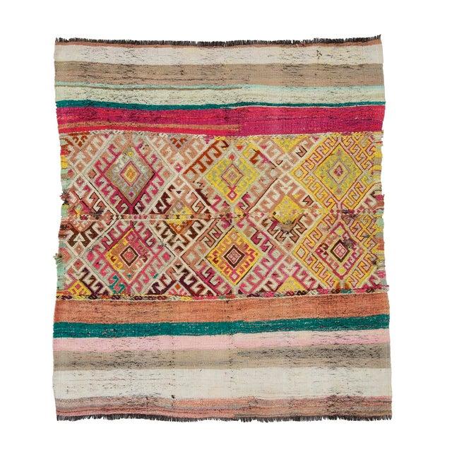 Textile Vintage Small Turkish Kilim Rug For Sale - Image 7 of 7