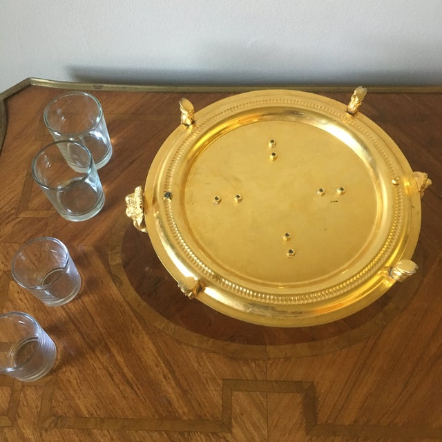 Glass Vintage Italian Centerpiece With Ram's Heads For Sale - Image 7 of 9