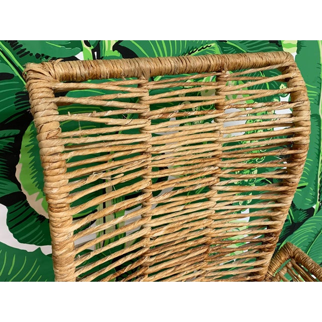 Rattan Jute Rope Wrapped Dining Chairs, Set of 6 For Sale - Image 11 of 13