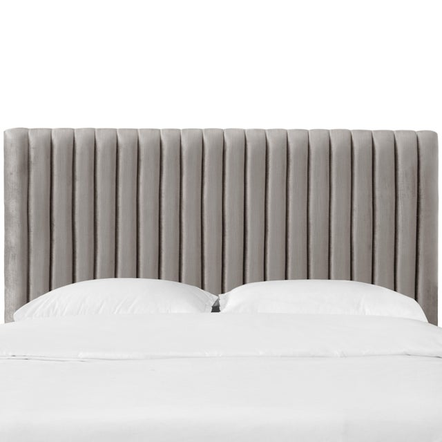 Queen Channel Headboard in Majestic Smoke For Sale In Chicago - Image 6 of 6