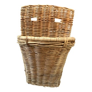 French Wicker Bakery Wall Basket For Sale