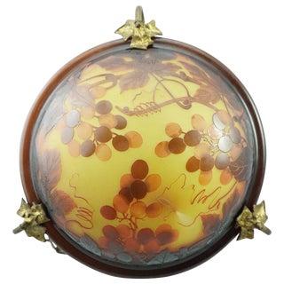 d'Argental Art Nouveau Cameo Hanging Chandelier Lamp Fixture For Sale