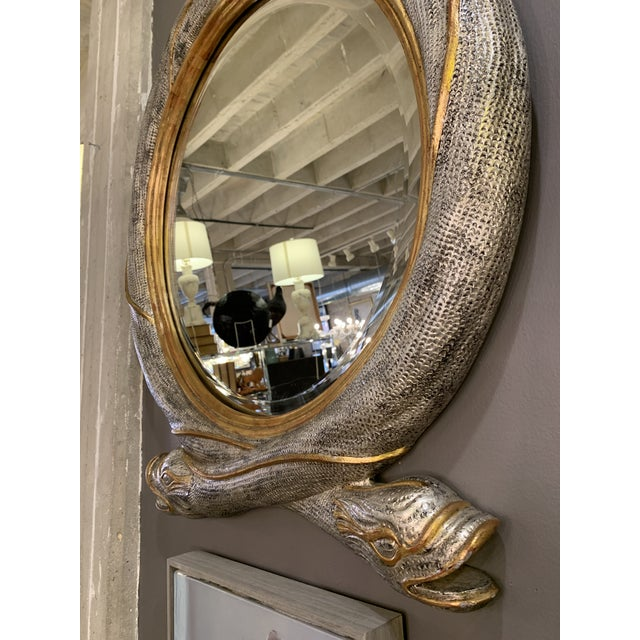 Glass Mid 20th Century Maitland Smith Serpent Mirror For Sale - Image 7 of 12