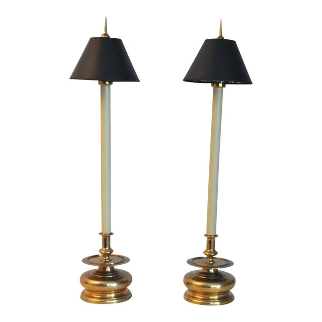 Vintage 1981 Chapman Spike Table Lamps - A Pair - Image 1 of 8