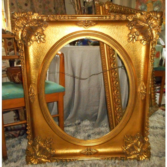 18th 19th Century Ornate Gold Leaf Frame Very Large Chairish
